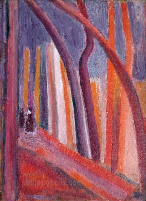 """""""Път с дървета и фигури"""""""